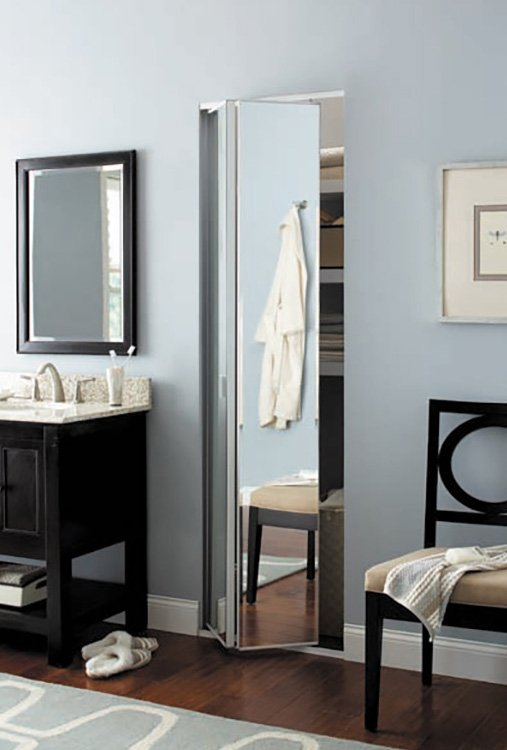 mirrored wardrobe bifold doors